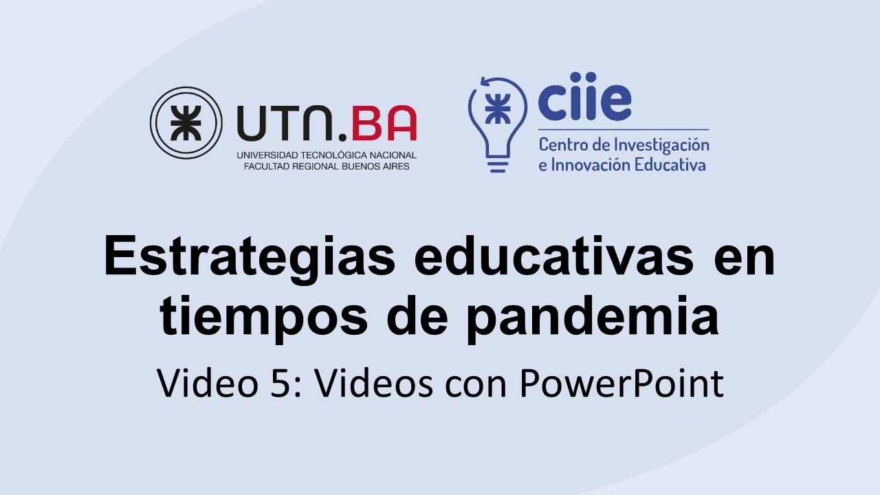 Estrategias educativas en tiempos de pandemia